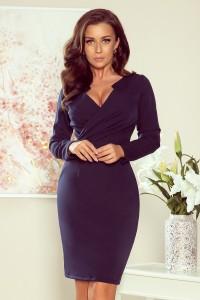 Elegantné tmavomodré šaty...