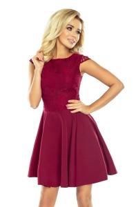 Romantické bordové šaty 157-3