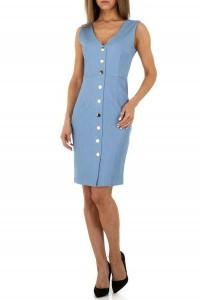 Modré puzdrové šaty s gombíkmi
