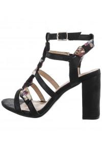 Čierne sandále s hrubým...