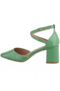 Zelené sandále na hrubom...