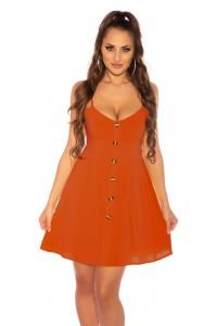 Oranžové letné bavlnené...