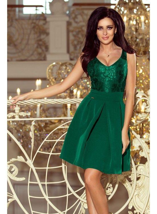 Spoločenské šaty s čipkovaným topom 208-4